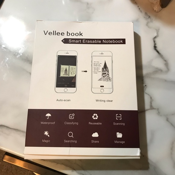 Vellee Book Smart Erasable Notebook Auto-scan Notebook NEW IN BOX